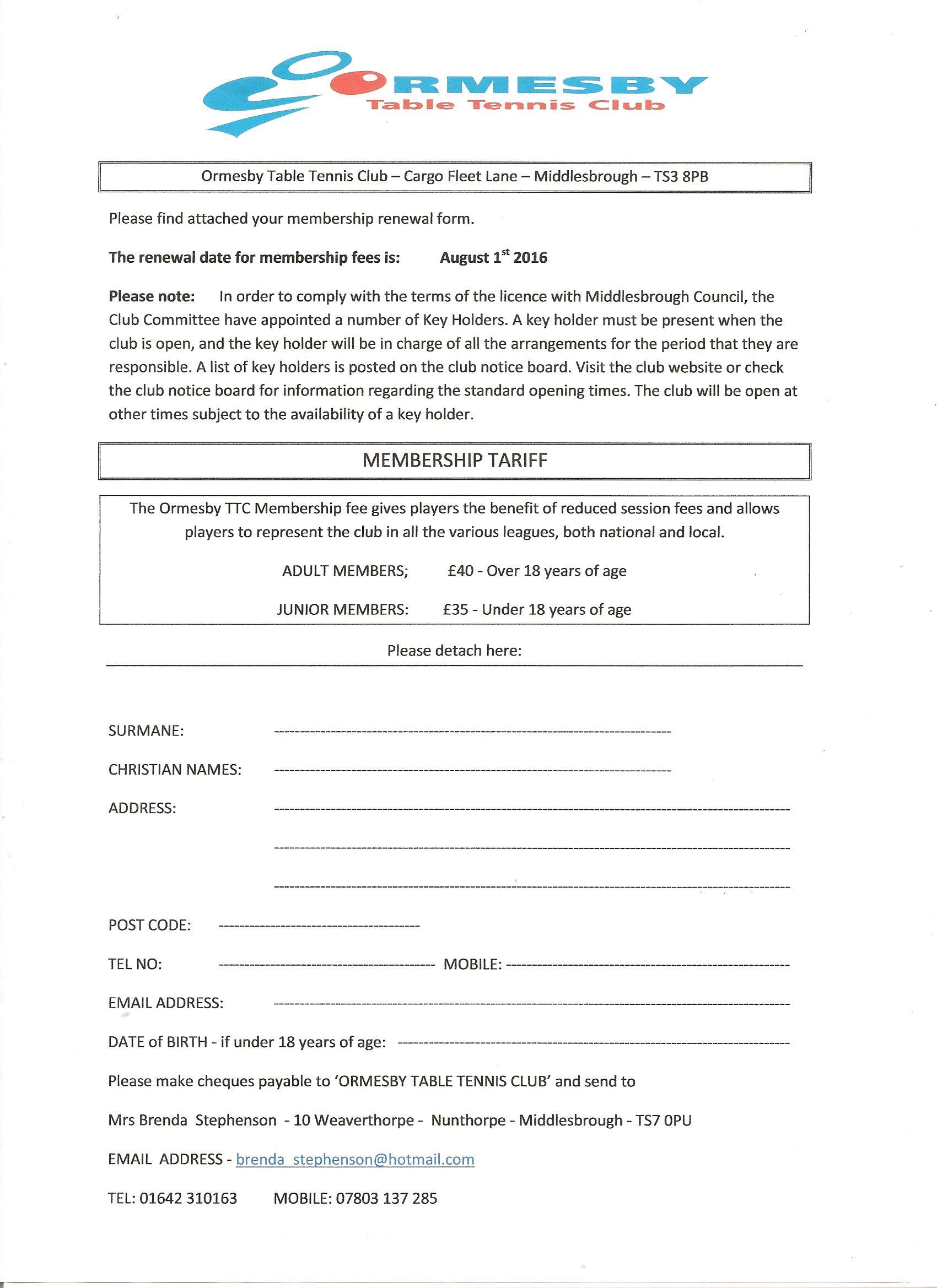 OTTC Membership Form 201617 001