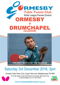 OTTC Prem Drumchapel 3 Dec 2016