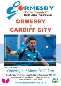 Ormesby v Cardiff City 11 March 2017