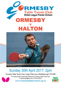 Orm TTC Brit Prem v Halton April 30 2017