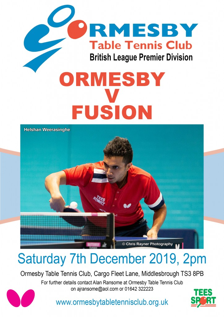 Ormesby Fusion Nov 2019 Poster