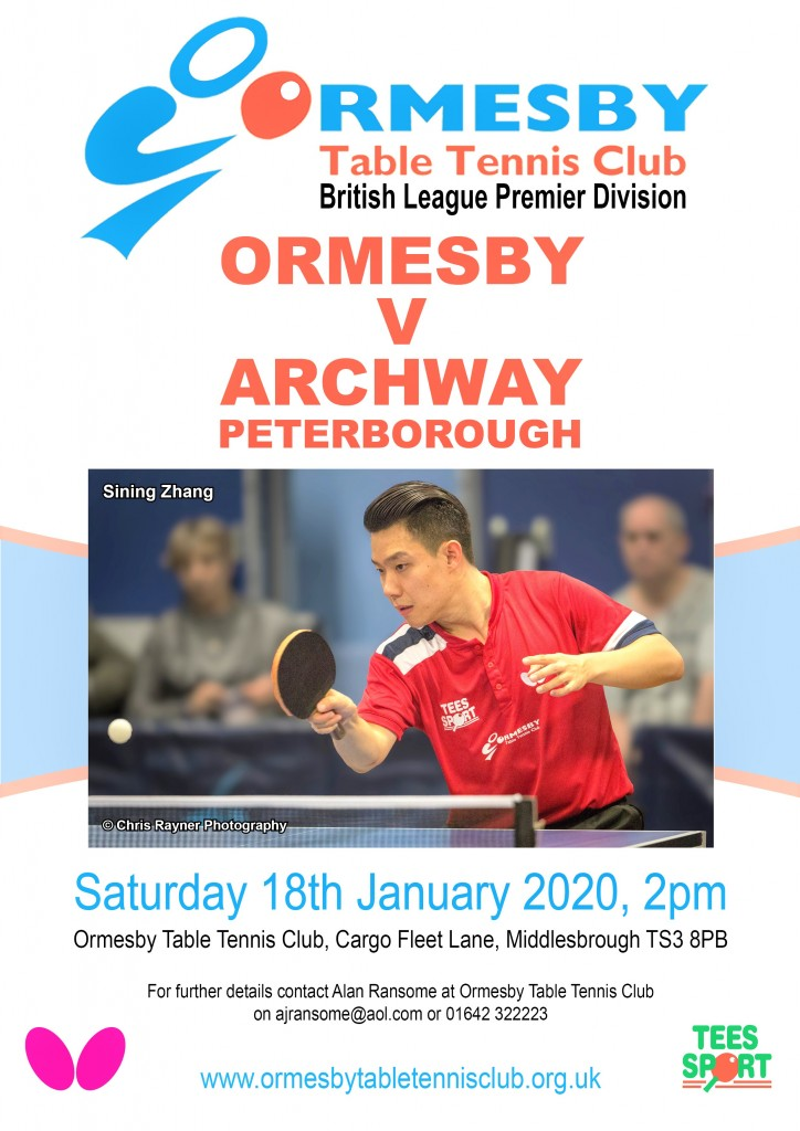 Ormesby v Archway Peterborough 18.1.2020