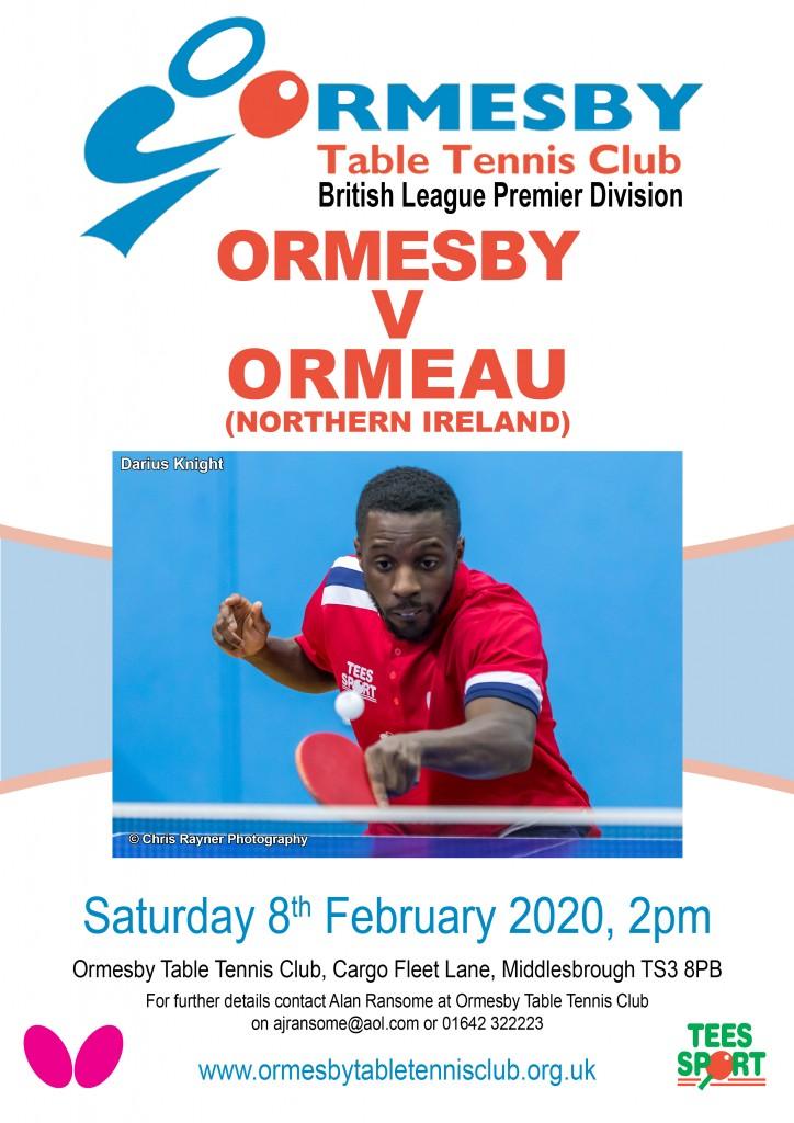 Premier poster Ormeau 8 February 2020